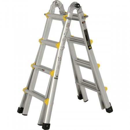 Verwendung als 2x4 Sprossen Stehleiter