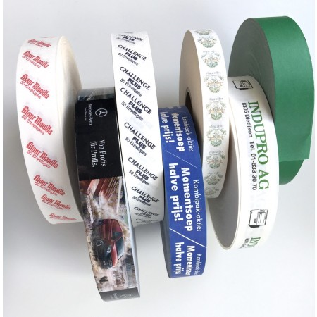 Verbrauchsmaterial: Bedruckte Papierbänder (Option)
