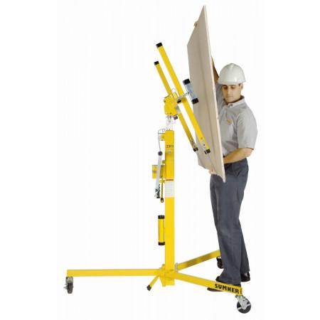 Gipsplattenlift beladen, Lastneigung bis 65°