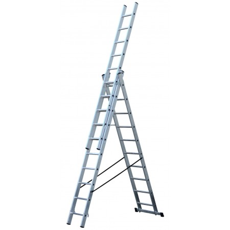 Verwendung als Stehleiter mit Aufsteckteil