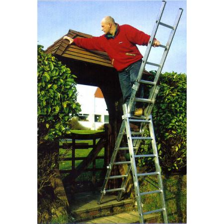 Anwendung auf Treppe als Stehleiter mit Aufsteckteil