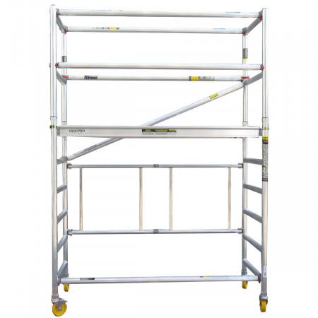 Basisgerüst mit Geländer = Standhöhe 1.65 m ; Reichhöhe 3.65 m