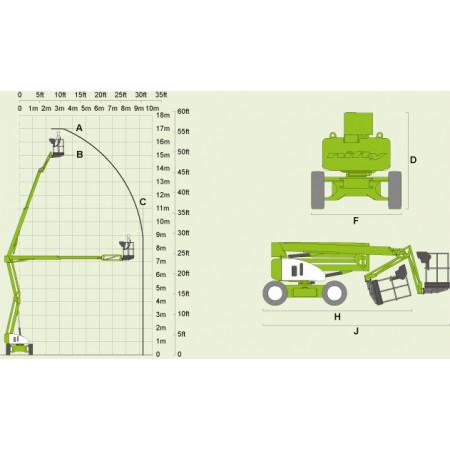 HR-17 4x4 Hybrid: Reichweitendiagramm