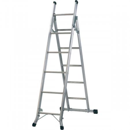 2) Beidseitig begehbare Stehleiter