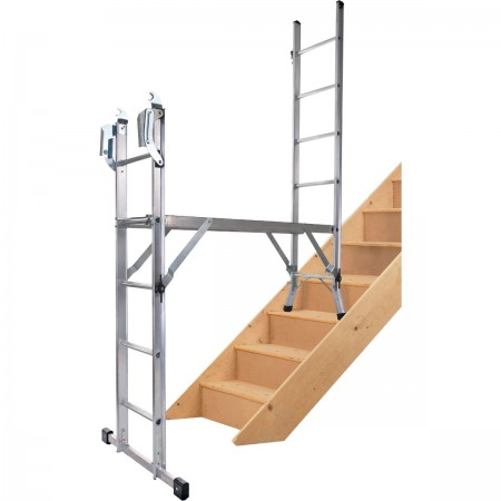 5) Mit Arbeitsplattform auf Treppe (max. Standhöhe: 1.15 m)