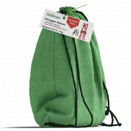 Komplettgurt sowie Sicherungsleine in blomierter Tasche