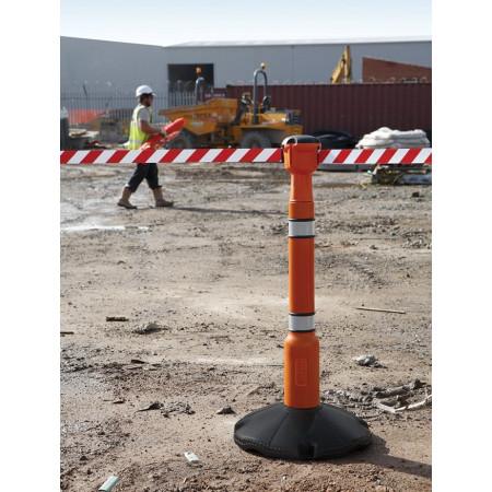 Anwendungsbeispiel: Bereiche auf der Baustelle absperren