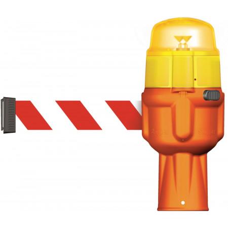 Optional: Das LED-Warnlicht wird einfach auf dem Dispenser eingerastet.