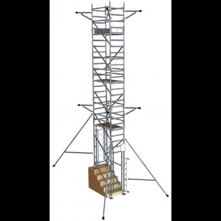 Max. Plattformhöhe im Innenbereich: 11 m (Aussenbereich: 7 m)