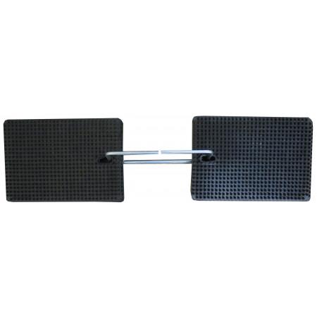 Abmessung ausgelegt (je 2 Matten links und rechts): 62 x 17 cm