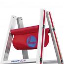 Werkzeugtasche an Alu-Sprossenstehleiter montiert