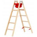 Stufen-Stehleiter aus Holz in der Grösse 2 x 5