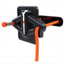 Halter mit elastischem Seil und 3 Rundmagneten auf der Rückseite