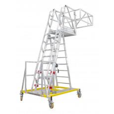 Podestleiter für Fahrzeuge im Gütertransport