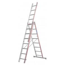 Variante 3x8 als Stehleiter mit einer Reichhöhe von 4.60 m
