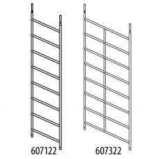 Alu-Rahmenteil mit 8 Sprossen
