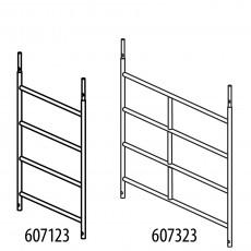 Alu-Rahmenteil mit 4 Sprossen