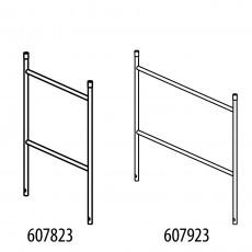 Alu-Geländerteil mit 2 Sprossen