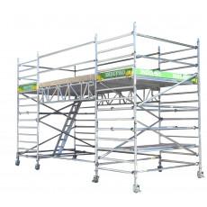 Die Grundlage für Podeste sind Standard-Rollgerüste. Mit zusätzlichen ...
