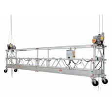 4 Meter lange Arbeitsbühne mit 2 Hubwinden und Seitenaufhängung