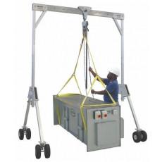 Mobiler Portalkran in 3 Breiten mit 750 kg Tragkraft