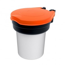 Universalbehälter mit orangem Deckel