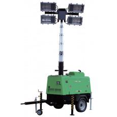 Schwerer Beleuchtungsanhänger mit 10 kVA Generator
