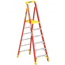 Stufenstehleiter 6 Stufen (inkl. Podium)