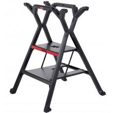 2-Tritt Stufenleiter und Multifunktions-Arbeitsbock