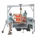 Mobiler Portalkran in 3 Breiten mit 2000 kg Tragkraft