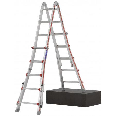 Dimensione 4×5 pioli, posizionata su scalinata