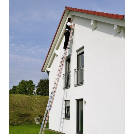 Rope-operated extension ladder in size 3x12