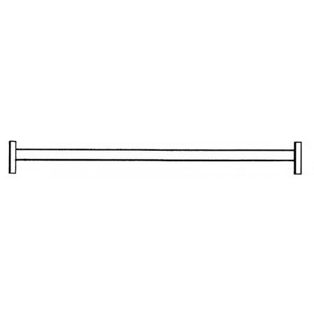 Traverse aus feuerverzinktem Stahl-Rechteckrohr