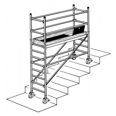 Aufbau auf Treppe (Abbildung symbolisch)