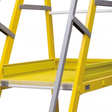 60 x 80 cm grosse Plattform mit Bordbrett auf 3 Seiten