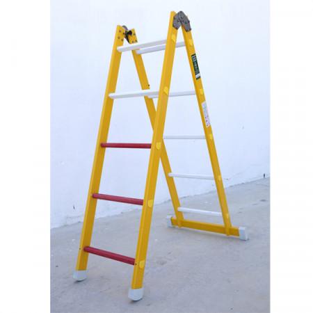 Verwendung als beidseitig begehbare Stehleiter.