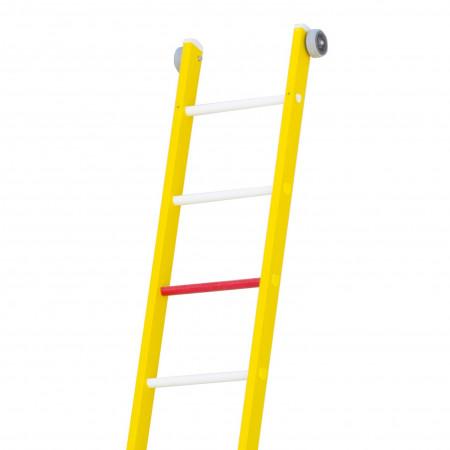 ... sowie 2 Wandrollen am oberen Leiterende.