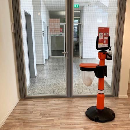 Anwendungsbeispiel der Hygienestation