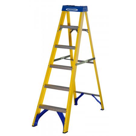 Stufenstehleiter GFK 716 mit 6 Stufen