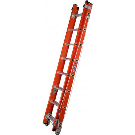 Seilzugleiter mit 2 x 8 Sprossen, eingefahren
