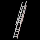 Einhänge-Schiebeleiter mit 2x9 Sprossen, ausgeschoben