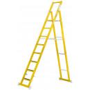 Vollkunststoff Stufenstehleiter mit 8 Stufen (inklusive Plattform)