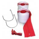 ZipWall® Reissverschluss verstärkt, 2er Pack, mit Folienschneider