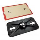 Ersatzteil zu allen ZipWall® Druckfederstangen: Kopfteil mit rutschfester Platte
