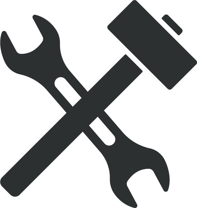 Symbol für Hammer und Schlüssel