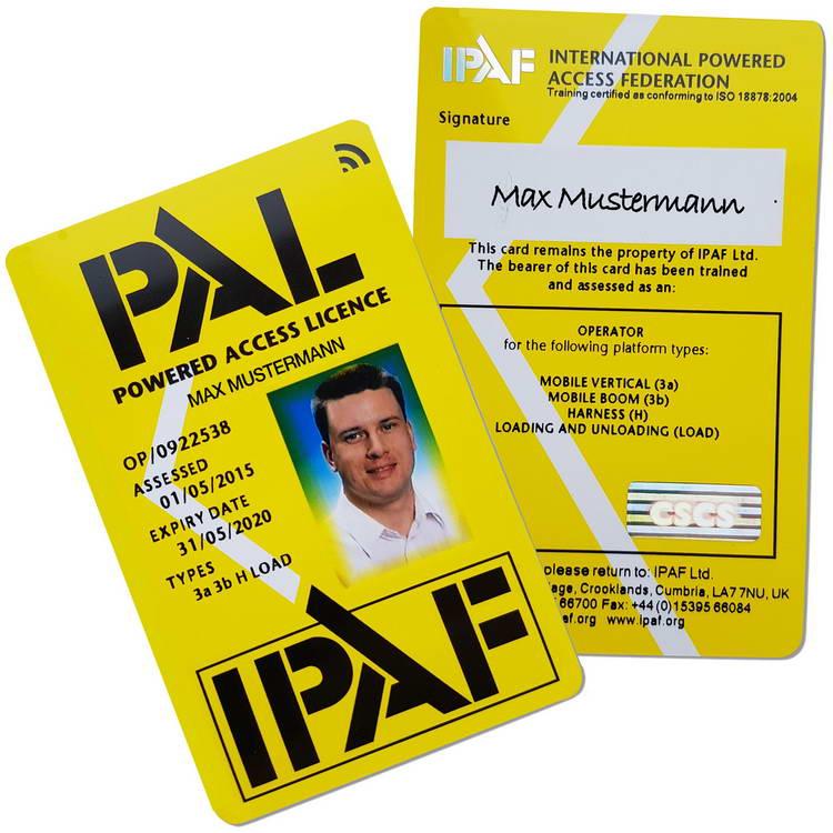 Ansicht einer PAL-Card