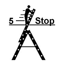 Sicherheitshinweise zu ausziehbaren Stehleitern