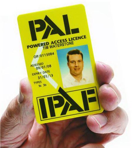 Ihre Pal-Card nach bestandener Prüfung